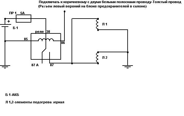 Схема подключения боковых